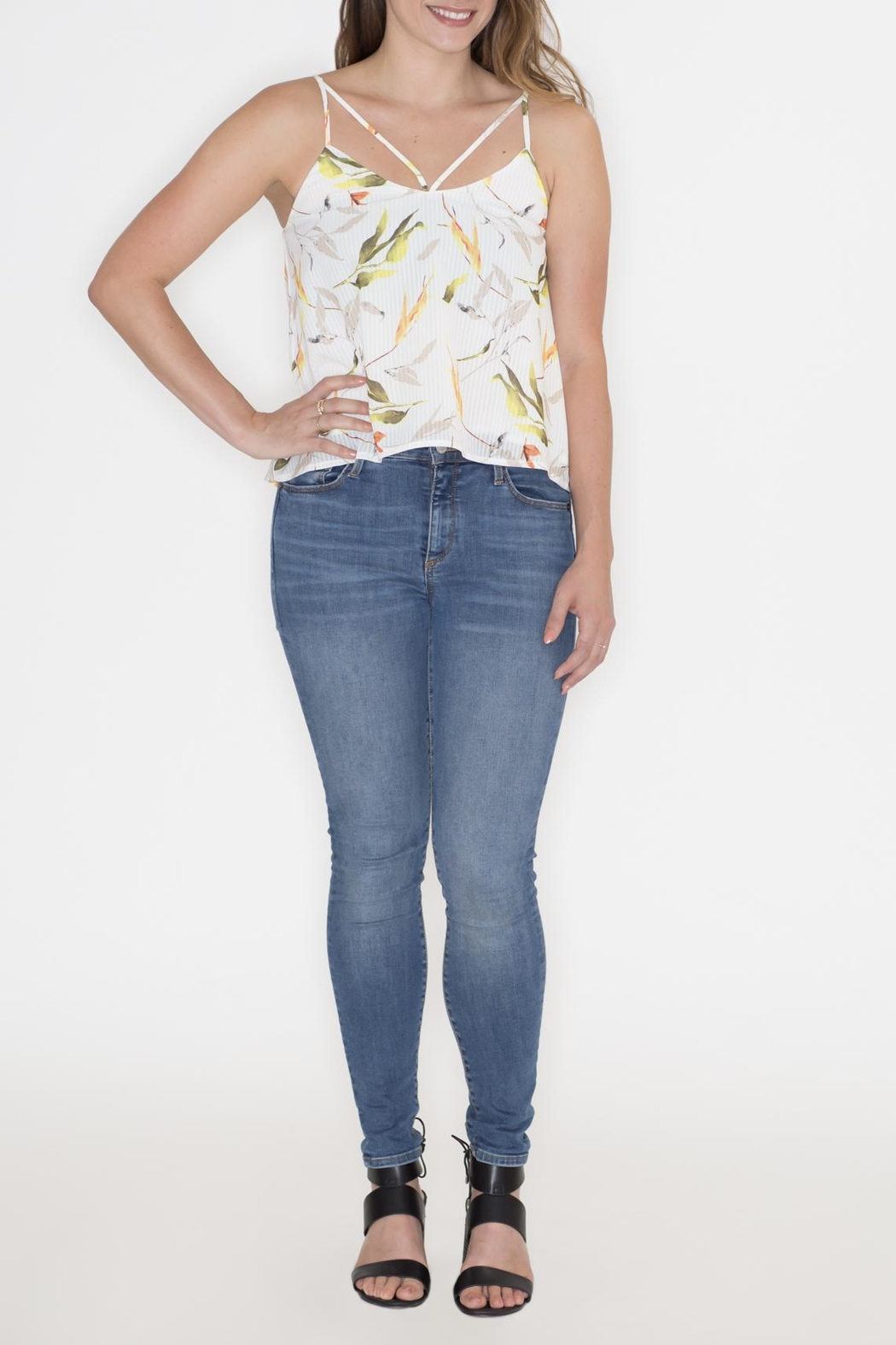 Hommage Floral Cami Top - Back Cropped Image