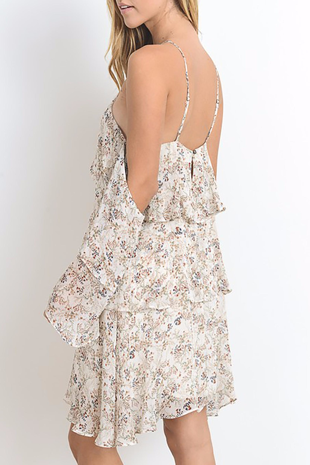 Hommage Floral Dress Ruffles - Front Full Image