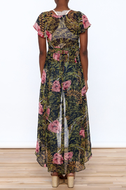 Hommage Floral Print Maxi Blouse - Back cropped