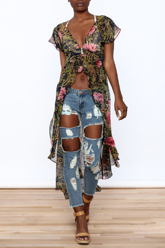 Hommage Floral Print Maxi Blouse - Product List Image