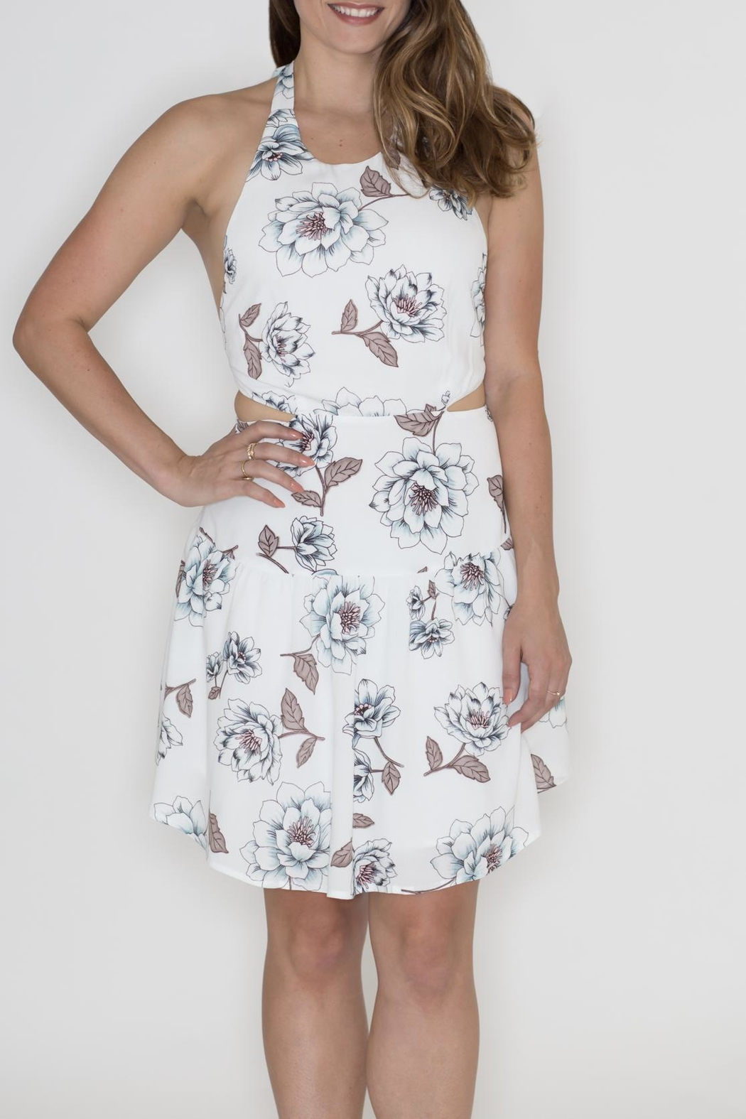 Hommage Floral Cut Out Dress - Main Image