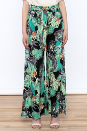 Hommage Floral Wide Leg Pants - Side cropped