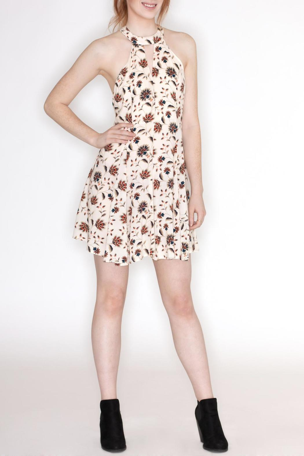 Hommage Floral Print Dress - Front Full Image