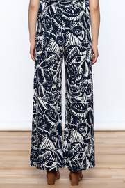 Hommage Bianca Floral Pants - Back cropped