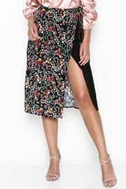 Hommage Floral Wrap Skirt - Product Mini Image