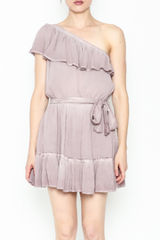 Hommage One Shoulder Dress - Front full body