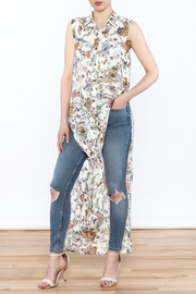 Hommage Floral Printed Maxi Top - Product Mini Image