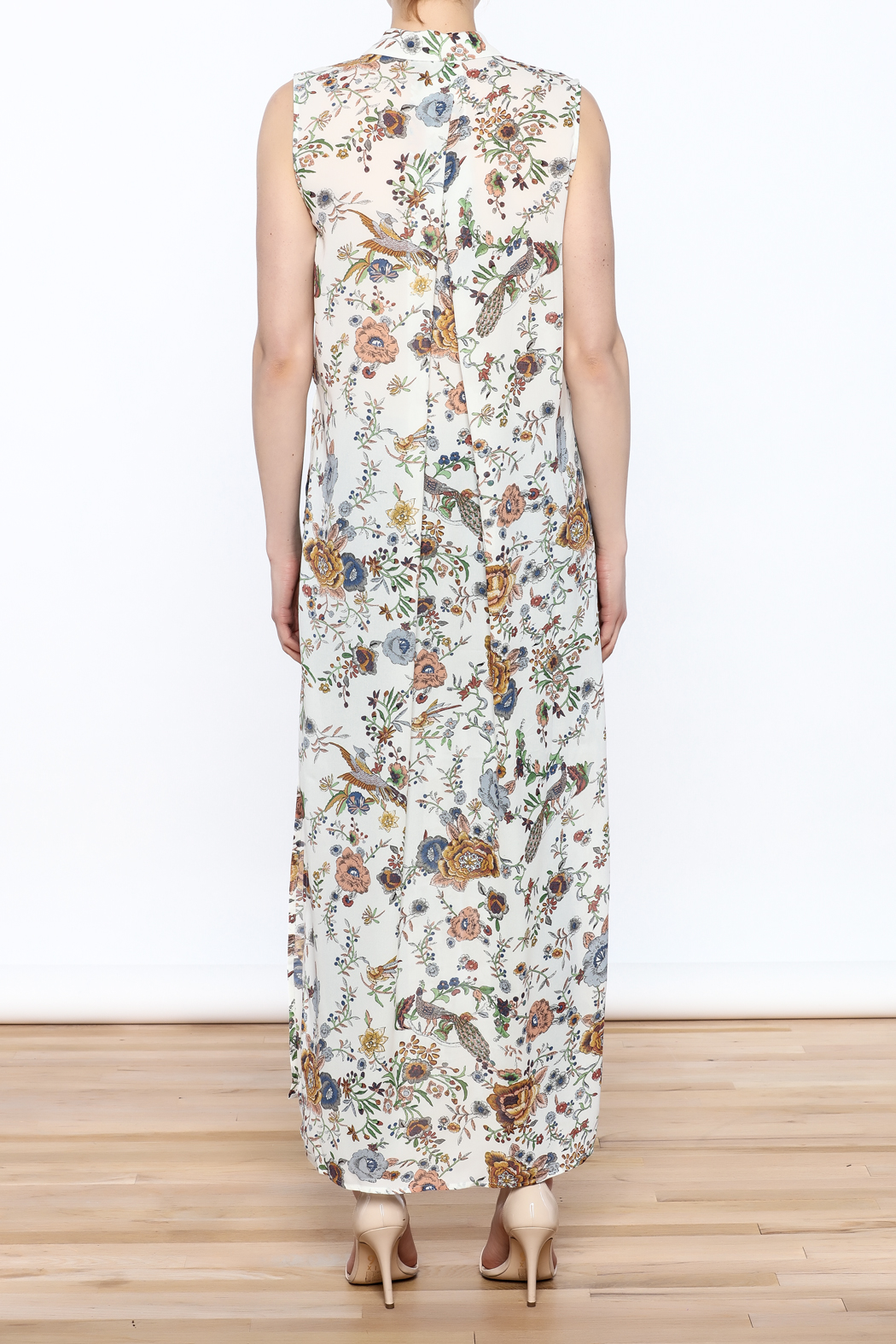 Hommage Floral Printed Maxi Top - Back Cropped Image
