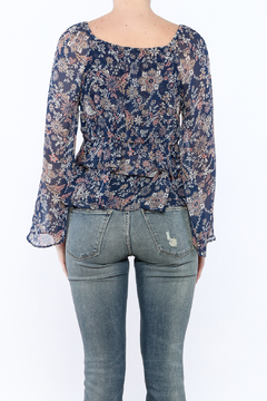 Hommage Navy Paisley Print Blouse - Alternate List Image