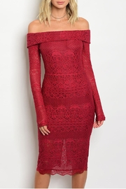 Hommage Red Lace Dress - Product Mini Image