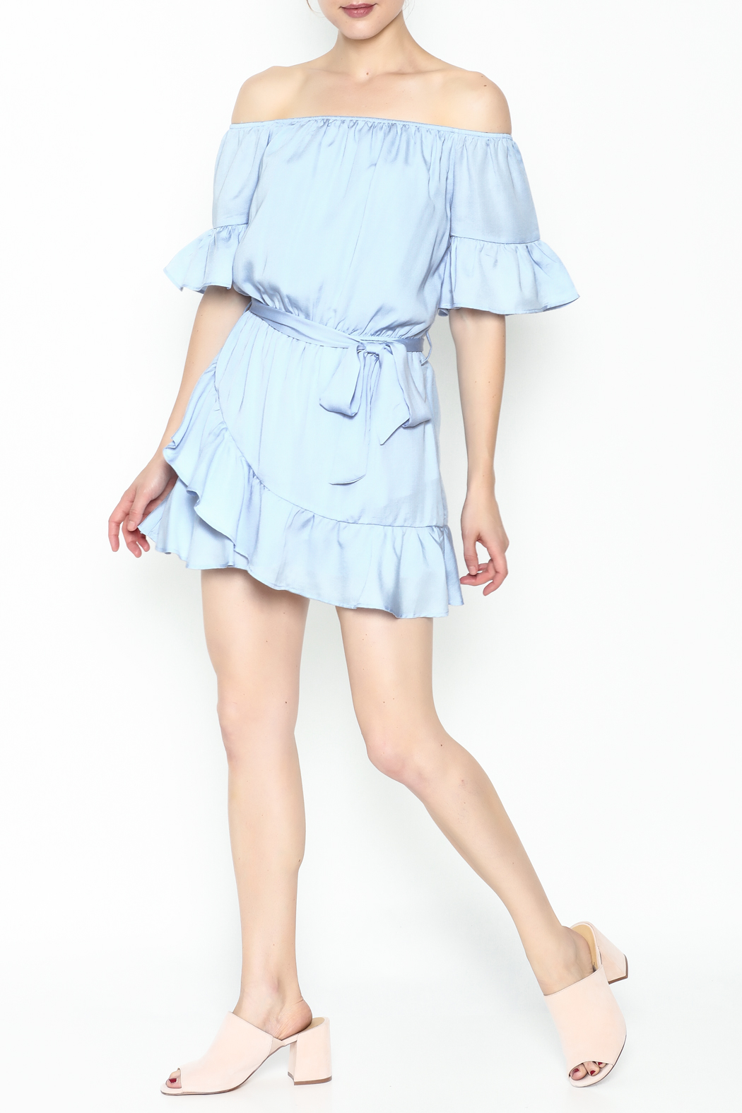 Hommage Ruffle Dress - Side Cropped Image