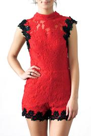 Hommage Sequin Trim Romper - Product Mini Image