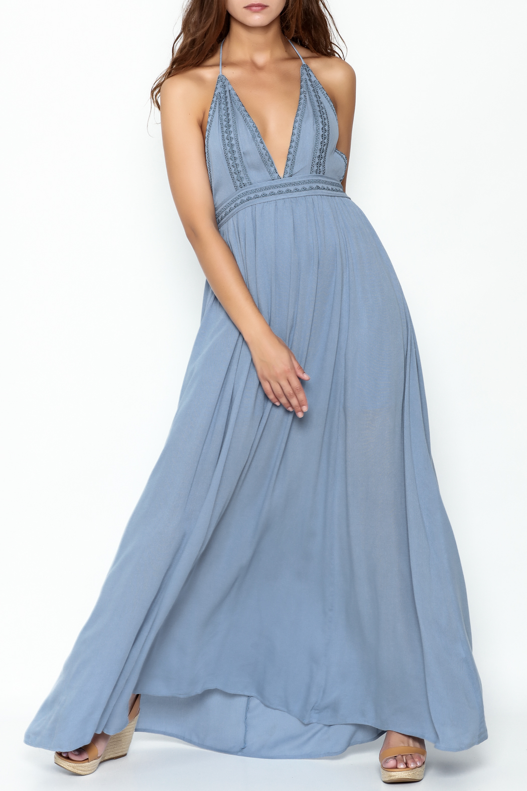 Hommage Skylar Maxi Dress - Front Cropped Image
