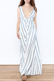 Hommage Stripe Flowy Maxi Dress - Front full body