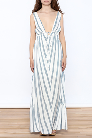 Hommage Stripe Flowy Maxi Dress - Front cropped