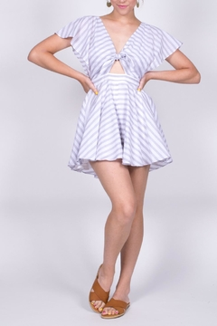Hommage Striped Cutout Romper - Product List Image