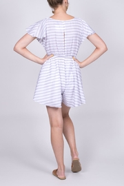 Hommage Striped Cutout Romper - Other