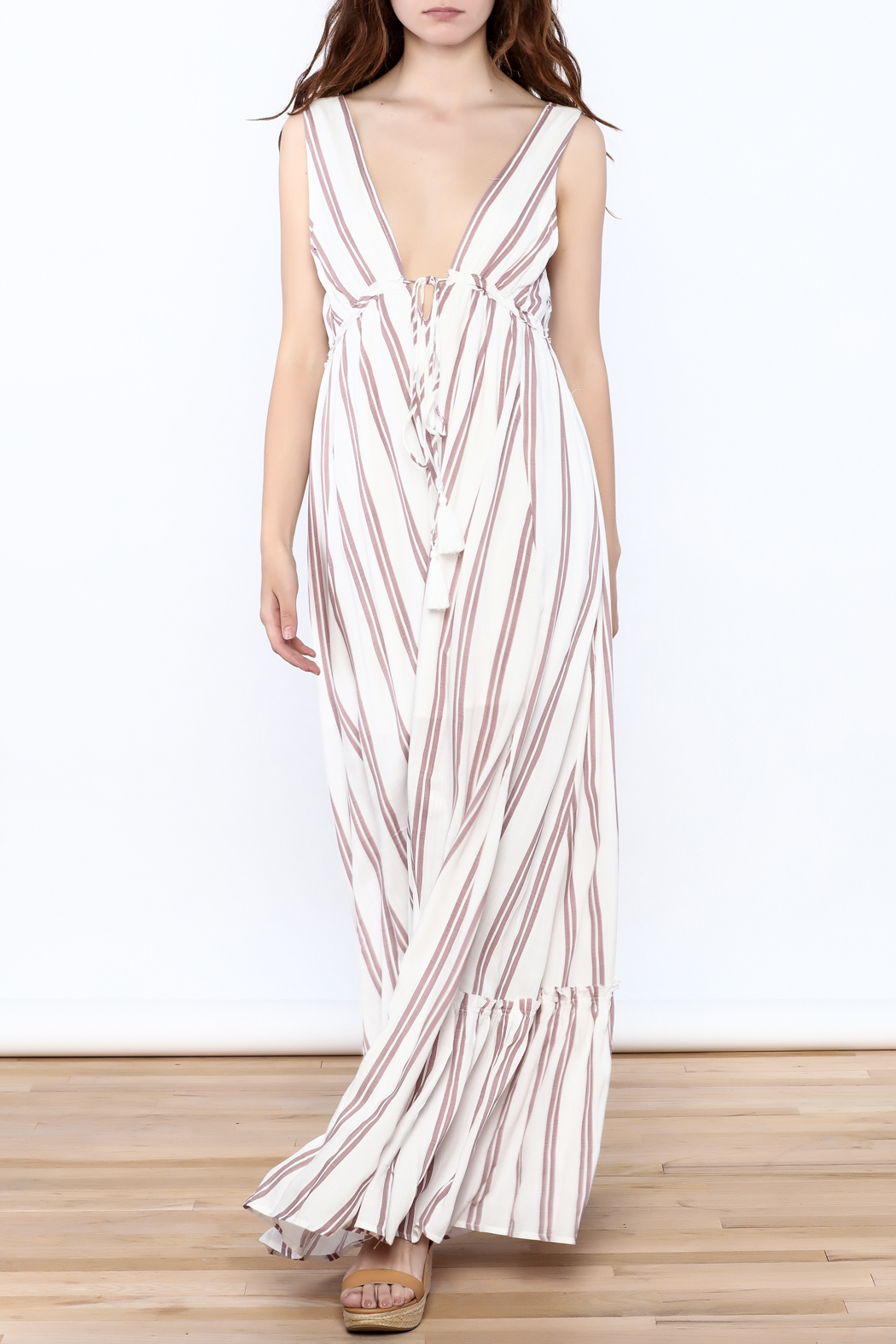 Hommage Flowy Roxy Maxi Dress - Front Full Image