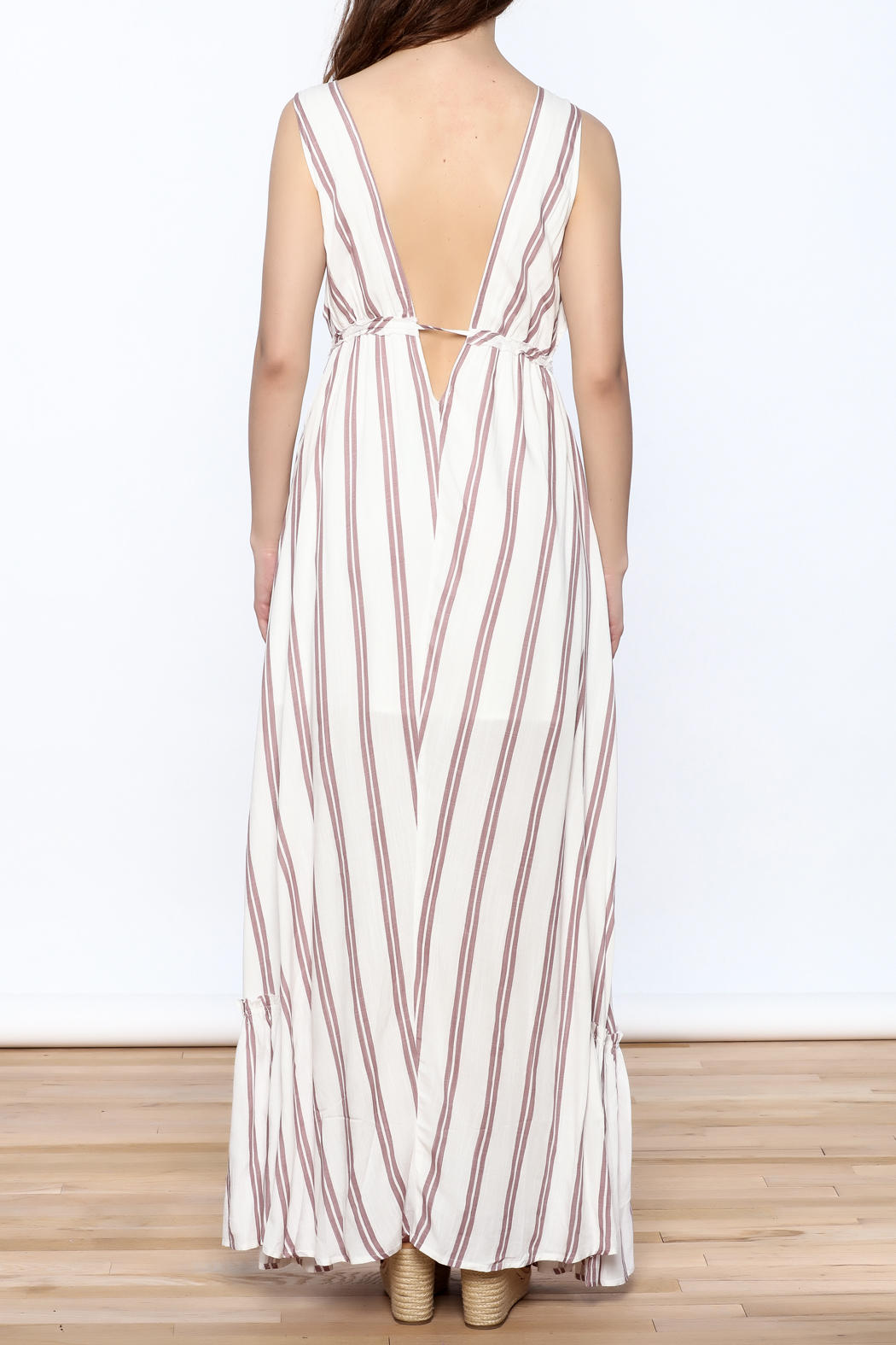 Hommage Flowy Roxy Maxi Dress - Back Cropped Image