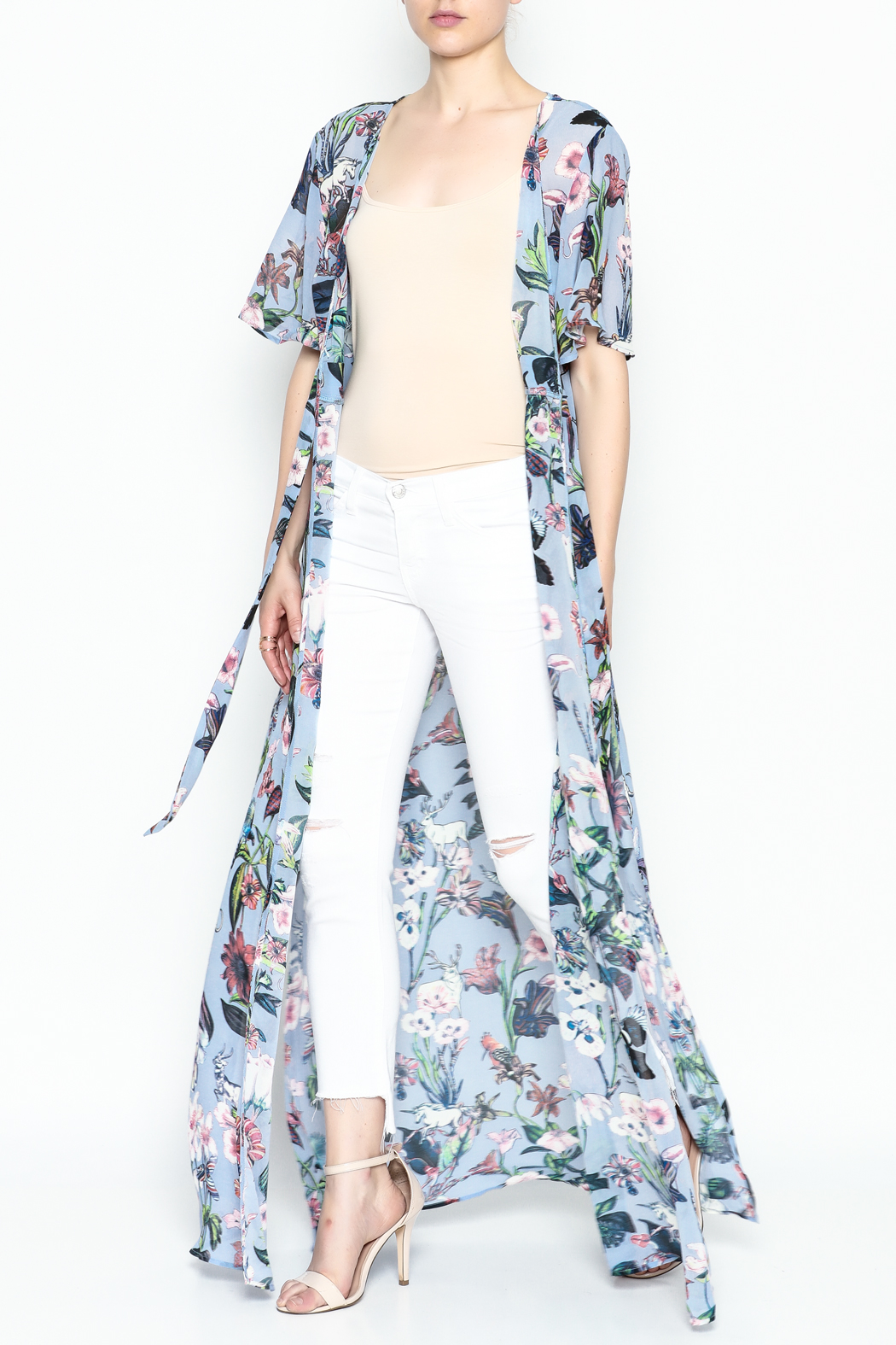 Hommage Tie Maxi Top - Front Cropped Image