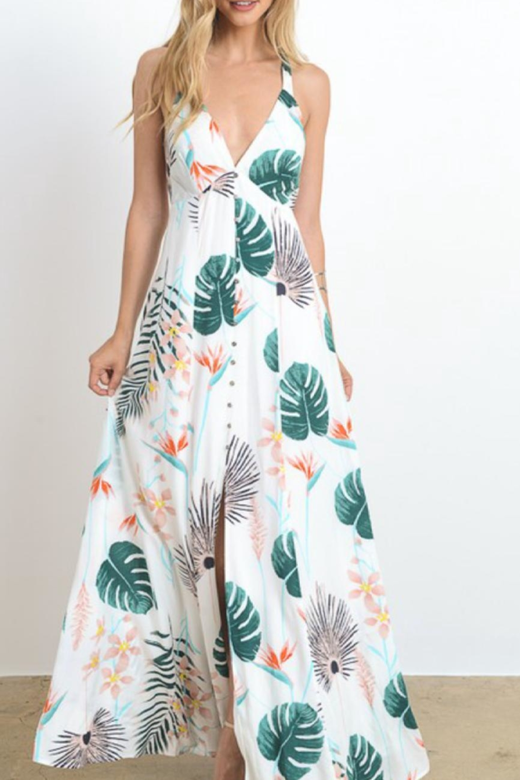 Hommage Tropical Boho Maxi - Front Cropped Image
