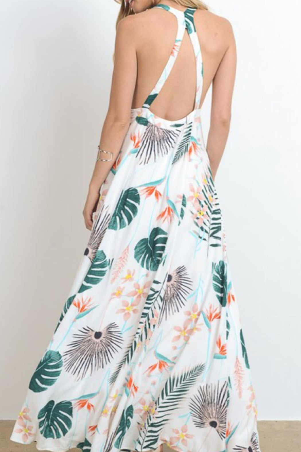 Hommage Tropical Boho Maxi - Side Cropped Image