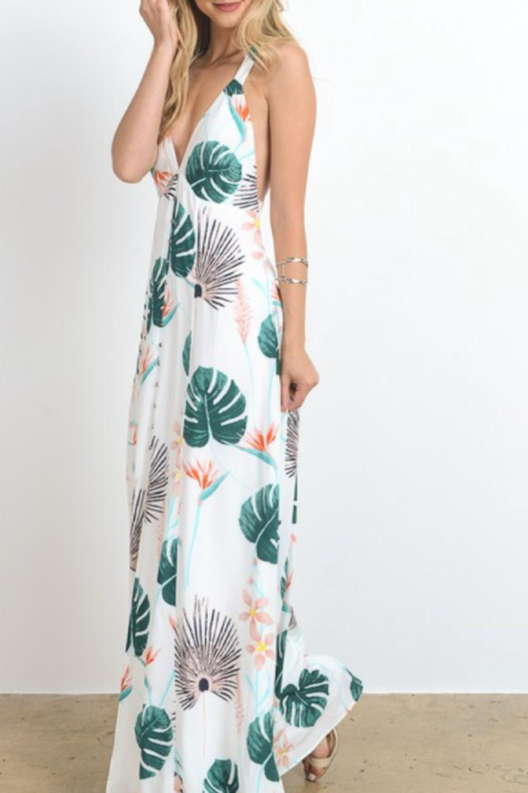 Hommage Tropical Boho Maxi - Front Full Image