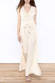 Hommage Beige Wide Leg Jumpsuit - Product Mini Image