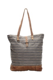 Myra Bags Honey Bee Print Tote Bag - Front cropped