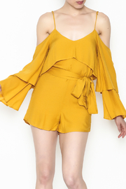 honey belle Cold Shoulder Romper - Product Mini Image