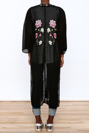 Shoptiques Product: Black Long Kimono - Back cropped