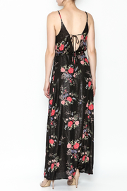 honey belle Floral Metallic Maxi Dress - Back cropped