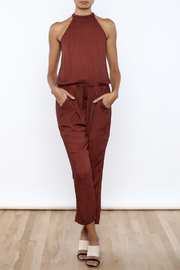 honey belle Rust Jumpsuit - Product Mini Image