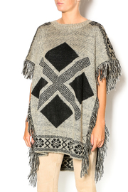 honey belle Fringe Trimmed Poncho - Product Mini Image