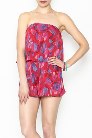 honey belle Red Leaf Romper - Product Mini Image