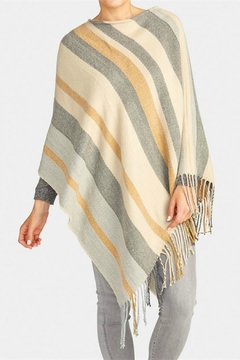 Coco + Carmen Honey Fringed Poncho - Product List Image