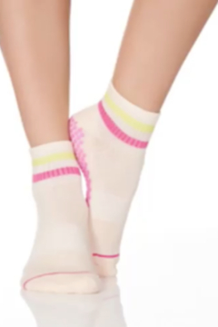 Honey Lucky Honey Luck Pink Boyfriend Barre Sock with Grips - Product List Image