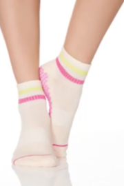 Honey Lucky Honey Luck Pink Boyfriend Barre Sock with Grips - Product Mini Image