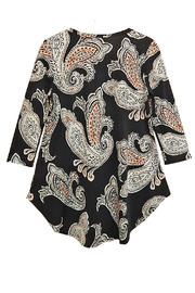 honeyme Peach Paisley Top - Front full body