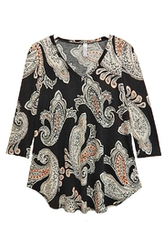 honeyme Peach Paisley Top - Product Mini Image