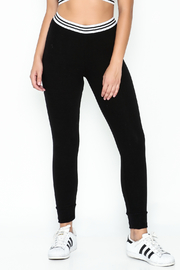 Honey Punch Athletic Stripe Pants - Front cropped