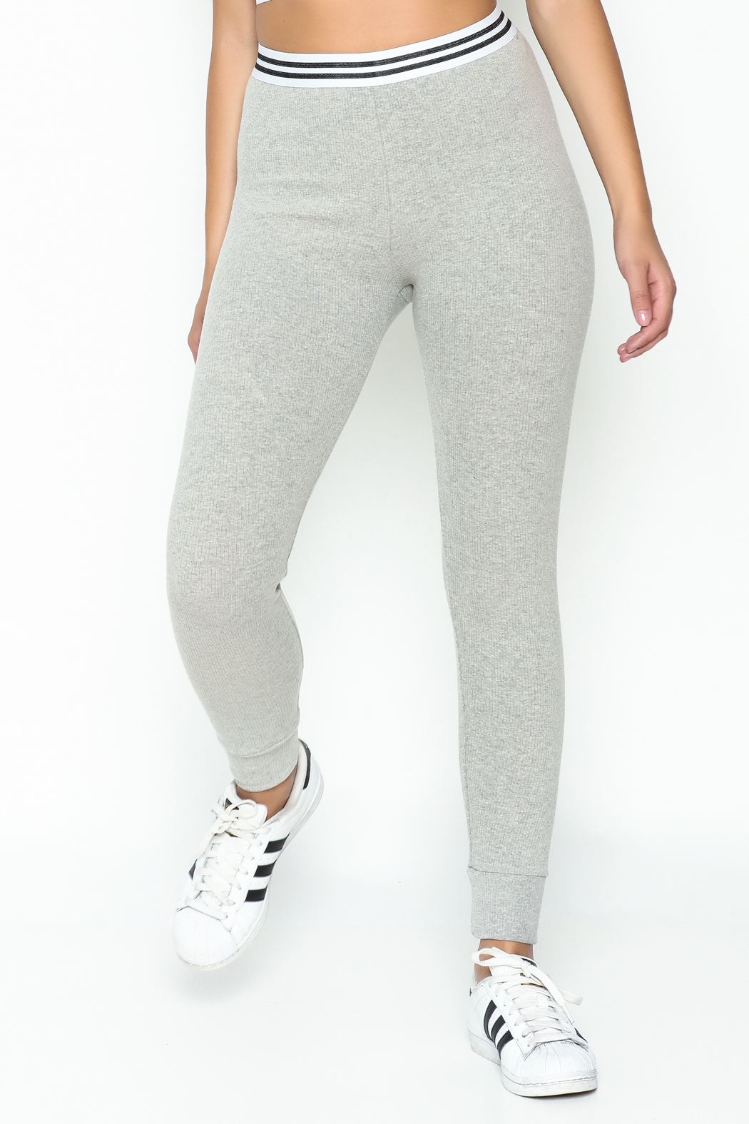 Honey Punch Athletic Stripe Pants - Front Cropped Image
