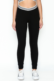 Honey Punch Athletic Stripe Pants - Front full body