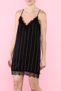 Shoptiques Product: Black Slip Dress With Lace