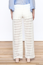 Honey Punch Chevron Knit Pants - Back cropped