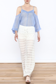 Honey Punch Chevron Knit Pants - Side cropped