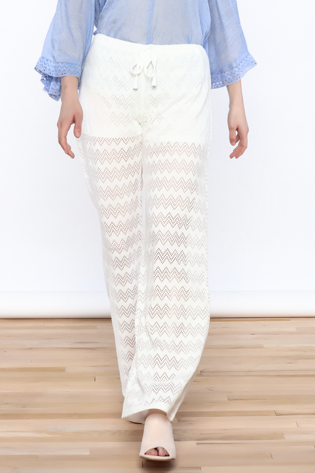 Honey Punch Chevron Knit Pants - Main Image