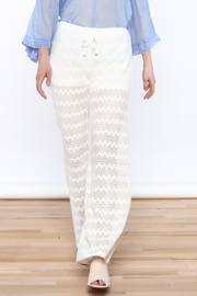 Honey Punch Chevron Knit Pants - Front cropped