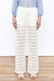 Honey Punch Chevron Knit Pants - Front full body