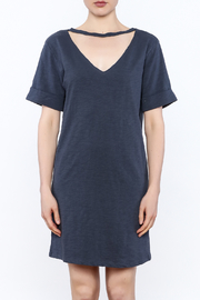 Honey Punch Choker T-Shirt Dress - Front full body